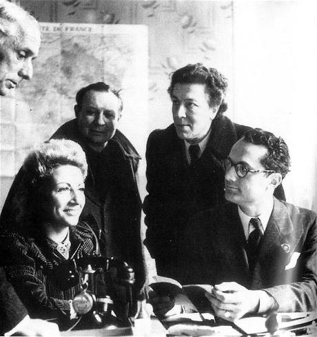 Max Ernst, Jacqueline Lamba Breton, André Masson, André Breton a Varian Fry v Marseille