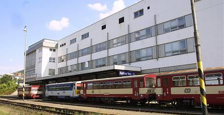Současná podoba Dolního nádraží v Karlových Varech