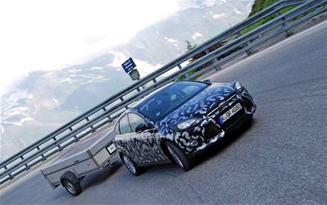 Ford Focus při testování v Alpách