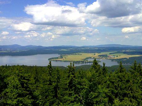 Pohled na Lipno z Vítkova Hrádku
