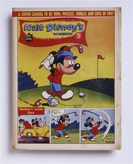 Golfová komiksová série s Mickey Mousem z roku 1945.