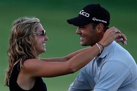 Alison Michelettiová a Martin Kaymer po vítězství v PGA Championship.