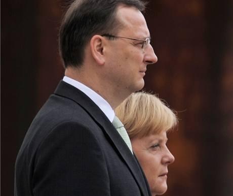 Premiér Petr Nečas při návštěvě Německa (19. srpna 2010)