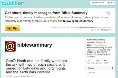 Bible na Twitteru
