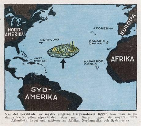 Bermudský trojúhleník označuje oblast Atlantského oceánu mezi Bermudami, Floridou a Portorikem
