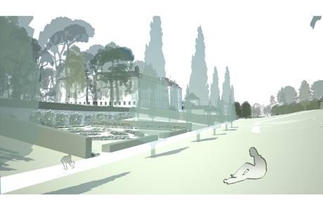 Vizualizace - zámecká zahrada ve Valticích