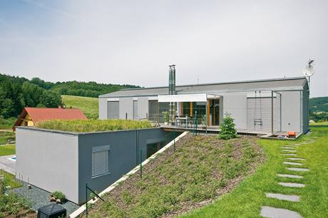 Zelená střecha udržuje příjemné klima