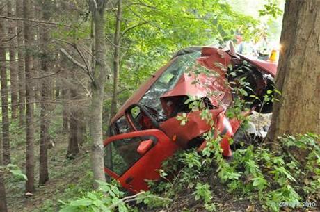 Při nehodě u Jívové na Olomoucku zahynul řidič.