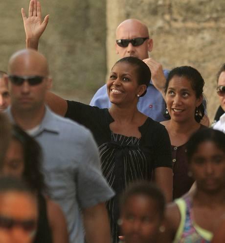 Michelle Obamová na dovolené ve Španělsku. I se svou ochrankou