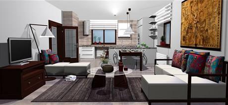 Rekonstrukce obývací kuchyně v rodinném domě