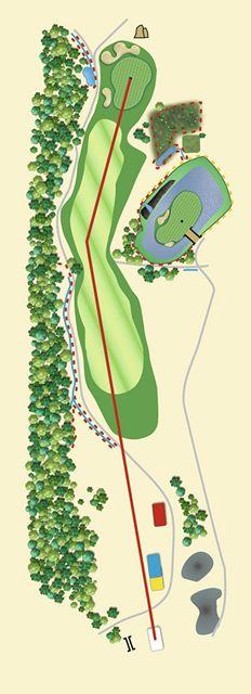 Golfové hřiště Old Course v Čeladné, jamka č. 12 - nákres.