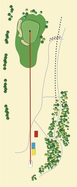 Golfové hřiště Old Course v Čeladné, jamka č. 17 - nákres.