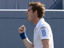 GESTO VÍTĚZE. Andy Murray na turnaji v Torontu.