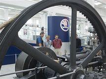 Nový parní stroj v plzeňském Science centru Techmania (17.8.2010)