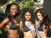 Česká Miss Jitka Válková se svými soupeřkami na Miss Universe v Las Vegas