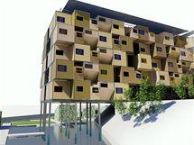 Vizualizace - Manila, domy stojí na betonových pilotech