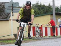 Fotoreportér olomoucké redakce MF DNES Petr Janeček během závodu Bobr Bike.
