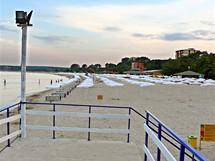 Bulharsko, Primorsko. Jižní pláž večer