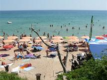Bulharsko, Primorsko, jeden ze vstupů na severní pláž