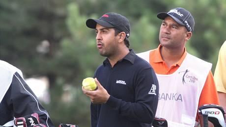 Šiv Kapur, první kolo Czech Open 2010.