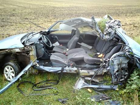 U Borotic na Znojemsku zemřel při dopravní nehodě 19letý řidič