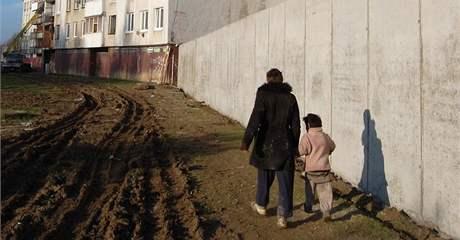 Zeď v Michalovcích va Slovensku.