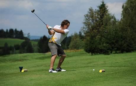 Ondřej Bank na golfu, hřiště Kořenec.