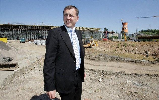 Ministr dopravy Vít Bárta nav�tívil stavbu Svitavské radiály u Královopolských tunel� v Brn�. (20. srpen 2010)