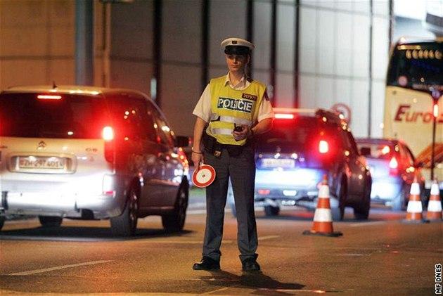 Policejní kontrola. Ilustra�ní foto