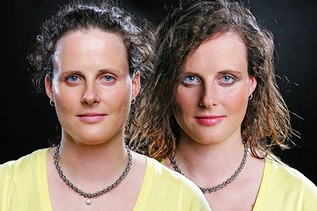 Make-up proměna - před (vlevo) a po