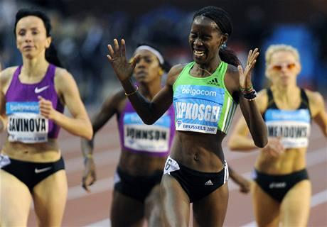 keňská běžkyně Janeth Jepkosgeiová vyhrála v Bruselu závod na 800 metrů