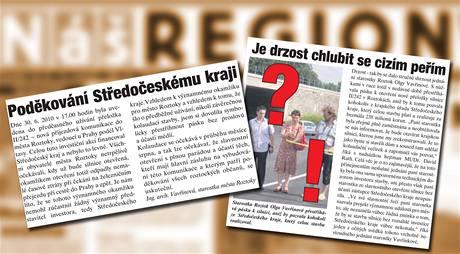Inzertní přestřelka ve středočeském listu Náš region.