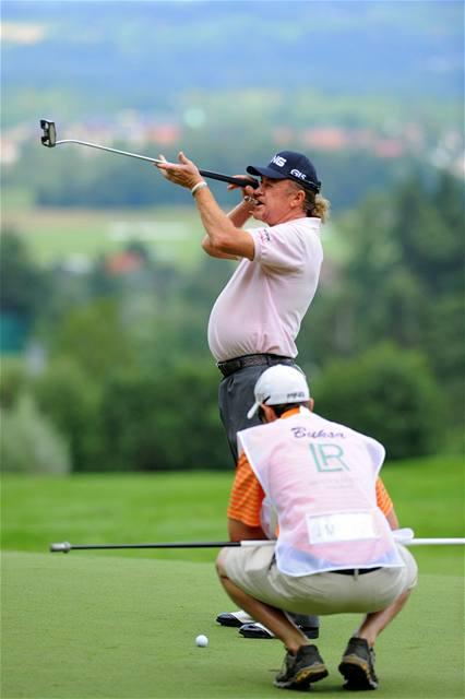Momentka z golfového Czech Open 2010 v Čeladné.