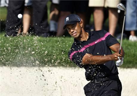 Tiger Woods, první kolo The Barclays 2010.