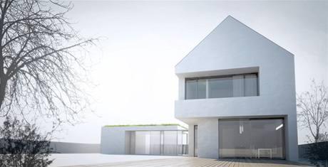 Rodinný dům se sedlovou střechou vychází z českého venkovského stavení