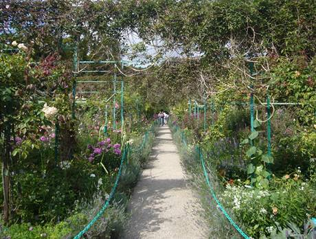 Normanská zahrada je nápadná svou symetrií