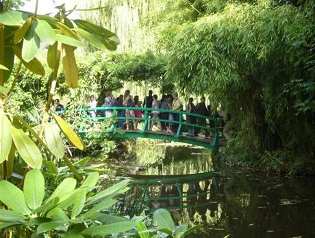 Japonský most byl oblíbeným motivem Monetových maleb