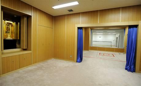 S popravčí místností (vzadu) sousedí prostor pro poslední rozjímání, kde se mohou vězni naposledy pomodlit (27. srpna 2010)