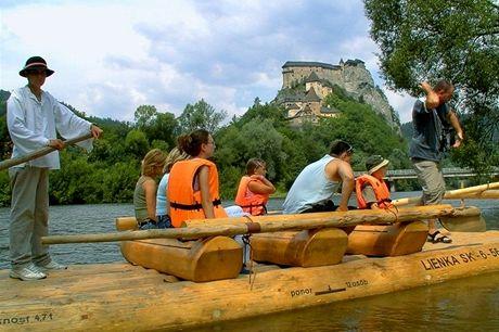 Slovensko, splouvání Oravy na voru