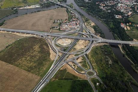 Pražský okruh, letecký snímek
