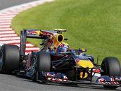 Mark Webber z Red Bullu při kvalifikaci na VC Belgie.