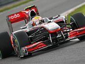 Lewis Hamilton z McLarenu při kvalifikaci na VC Belgie.