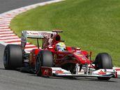 Brazilec Felippe Massa ze stáje Ferrari při kvalifikaci na Velkou cenu Belgie.