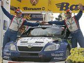 NEJLEPŠÍ Z ČECHŮ. Na zlínské Barum Rally byl z domácích závodníků nejlepší Pavel Valoušek.