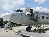 Letoun NATO s humanitární pomocí pro Pákistán