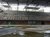 Torzo sportovní haly v pardubických Tyršových sadech