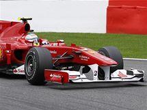 Fernando Alonso z Ferrari během Velké ceny Belgie.