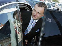 Ministr dopravy Vít Bárta přijel do Brna jednat o dopravních stavbách v kraji (20. srpna 2010)