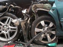 Tragická nehoda mezi Olbramovicemi a Tomicemi na Benešovsku (28.8.2010)