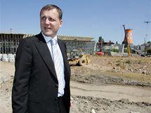 Ministr dopravy Vít Bárta navštívil stavbu Svitavské radiály u Královopolských tunelů v Brně. (20. srpen 2010)